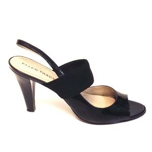 Ellen Tracy Jazz Patent Leather Open Toe Slingback